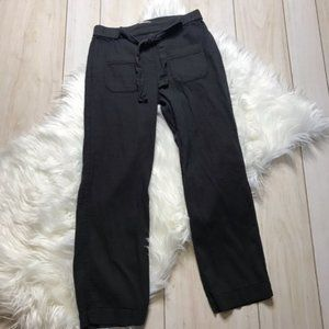 Zara Girls Soft Dark Gray Cropped Cargo Pants